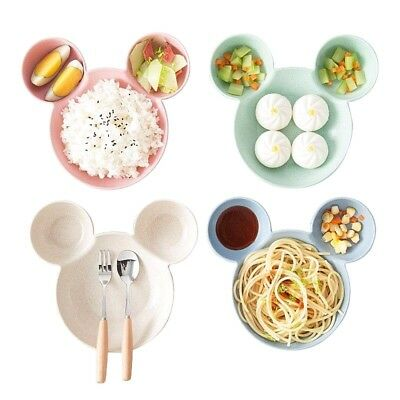 4PC Mickey Mouse Cartoon Kids Bowl Plate Food Noodle Fruit Snack Salad Tableware