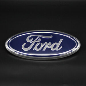 Inch Blue For Ford F F Front Grille Tailgate Emblem Oval Badge Nameplate