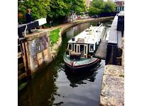 Beautiful widebeam boat barge houseboat for sale (bigger than a narrowboat)