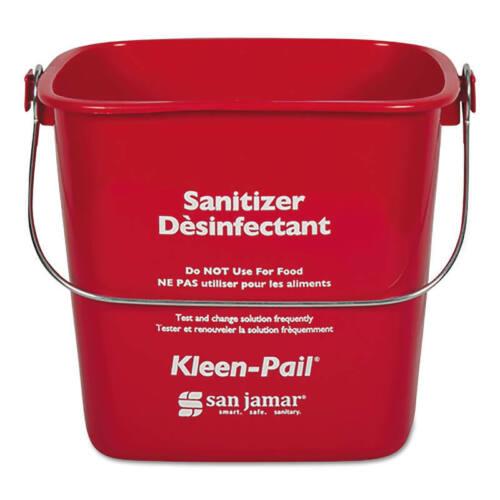 San Jamar KP97RD Kleen-Pail 3 Quart Red Sanitizer Pail