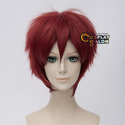 Anime for Child's Play Chucky Dark Red Short Straight Halloween Cosplay Wig+Cap