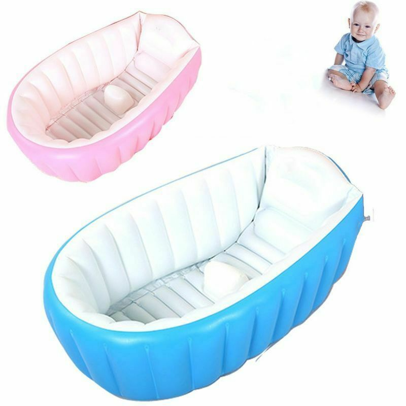 baby infant inflatable bath tub seat mommy