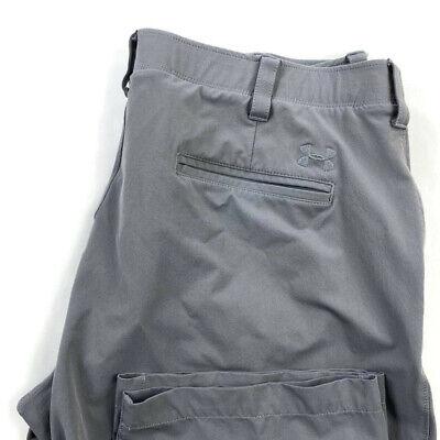 Under Armour Mens 40X32 Gray Nylon Athletic Pants