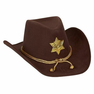 Cowboy For Halloween (Novelty Felt Cowboy Sheriff's Hat, Party Costume with Gold Braid for)