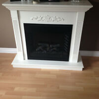 Beautiful white electric fire place