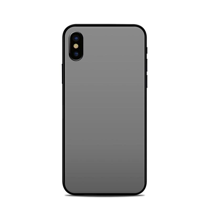 iPhone X/XS Skin - Solid Grey - Sticker Decal
