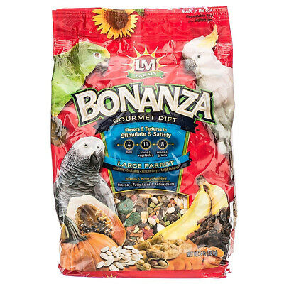Bonanza Gourmet Diet (LM Animal Farms Bonanza Gourmet Diet - Large Parrot Food )