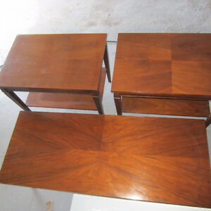 Set of 3 - Coffee Table and End Tables