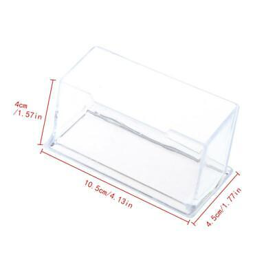 New Clear Business Card Holder Acrylic Plastic Display Stand Rack Desktop Office