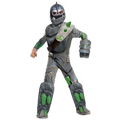 Skylanders Crusher Costume (Boys DELUXE SKYLANDERS GIANTS CRUSHER Costume Jumpsuit Mask Child Medium 8)