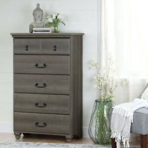 Noble Traditional 5-Drawer Chest - Grey Maple New in Box