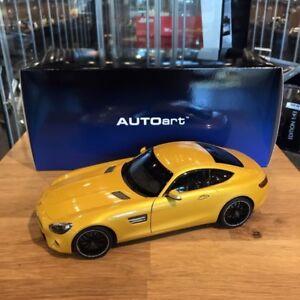 1/18 DIECAST AUTOART MERCEDES BENZ AMG GT-S YELLOW ORANGE