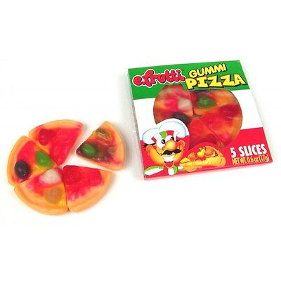 15 COUNT EFRUTTI GUMMY MINI PIZZAS FRUIT FLAVORED CANDY PARTY FAVOR GOODY - Gummy Pizza