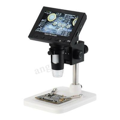 1000x 4.3 Lcd Screen Digital Video Electronic Microscope 8 Led Light For Repair