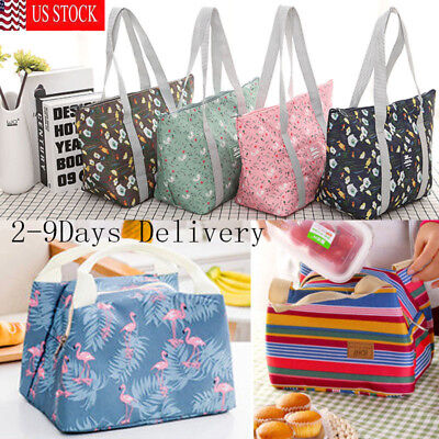 Waterproof Lunch Bag Insulated Tote Thermal Box Cooler Travel Picnic Women -