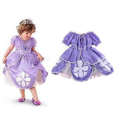 Toddler Baby Girls Kids Sofia Costume Princess Party Wedding Dress Sundress