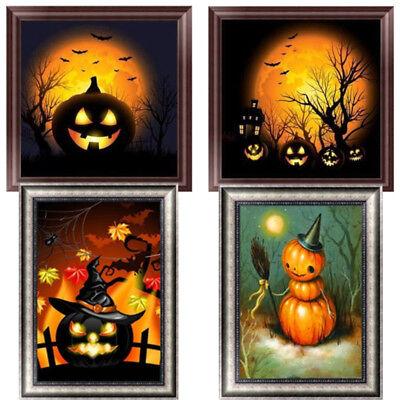 Halloween Pumpkin 5D Diamond Paint DIY Embroidery Cross Craft Stitch Home Décor