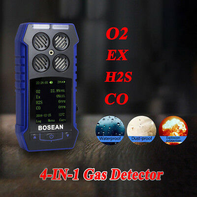 Handheld 4 in 1 Gas Warnungs Monitor EX H2S CO Sauerstoff Detektor Gaswarngeräte