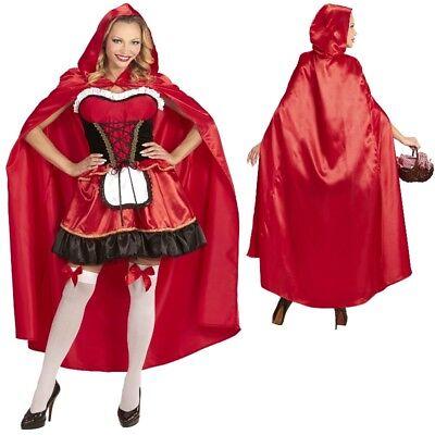 Rotkappchen Umhang Rot Karneval Kostum Fasching Theater Marchen