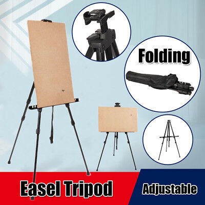 Easel Stand For Painting (Art Tripod Easel Adjustable Painting Folding Floor Stand + Bag for Artist)