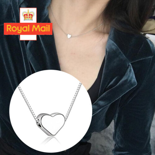 Jewellery - Heart Charm Pendant 925 Sterling Silver Plated Necklace Womens Jewellery Gift  \