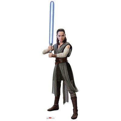 REY Star Wars VIII The Last Jedi CARDBOARD CUTOUT Standee Standup Daisy Ridley - Star Wars Cut Out