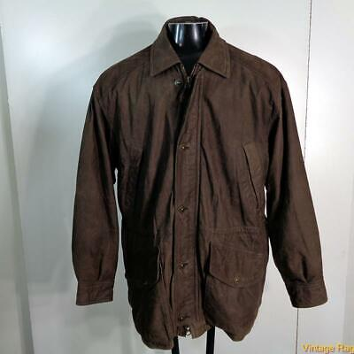 TIMBERLAND Weathergear Soft LEATHER JACKET Mens Size M Brown insulated