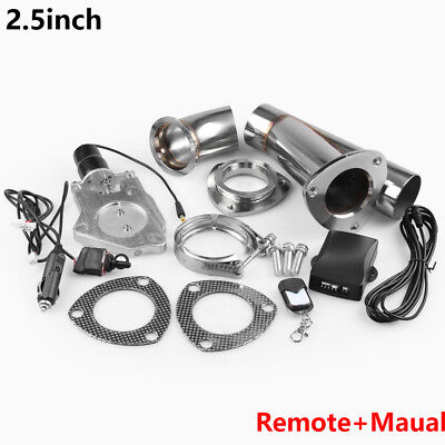 "Universal 2.5"" Dump Exhaust Electric Valve Downpipe Cutout  Valve Remote"