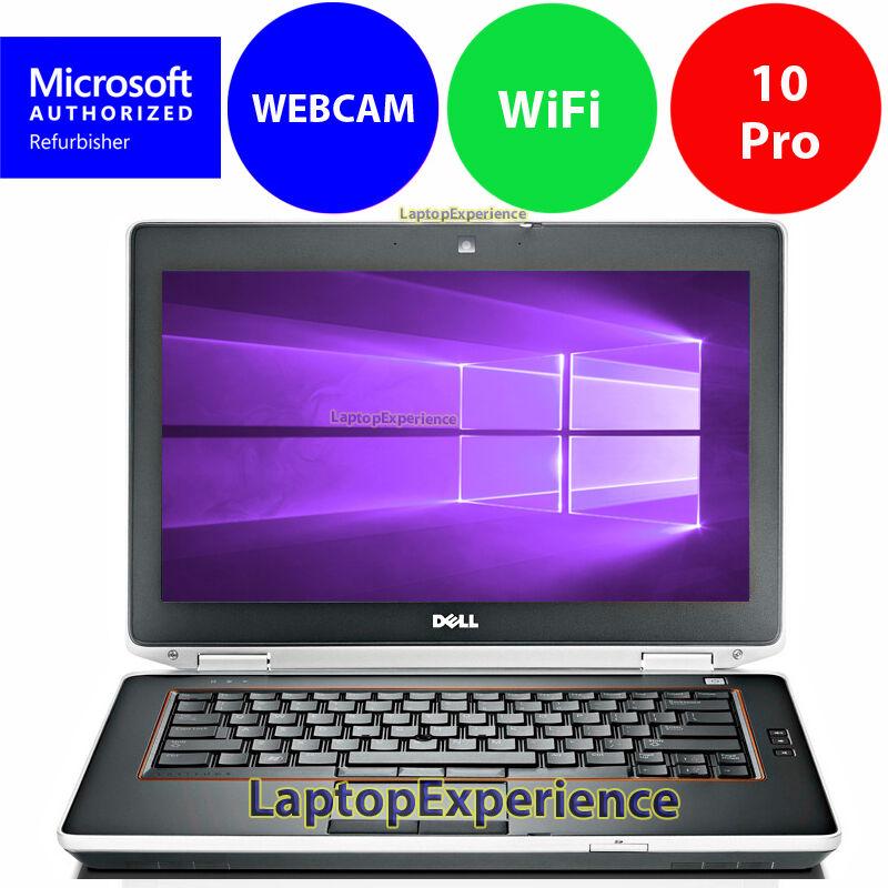 DELL LATITUDE E6420 LAPTOP NOTEBOOK CORE i5 2.5GHz 160GB SSD Win 10 PRO WEBCAM