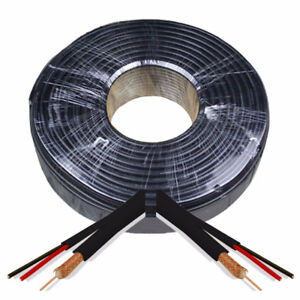 500-FT --- CCTV Cable - RG59 ---Siamese Cable Black