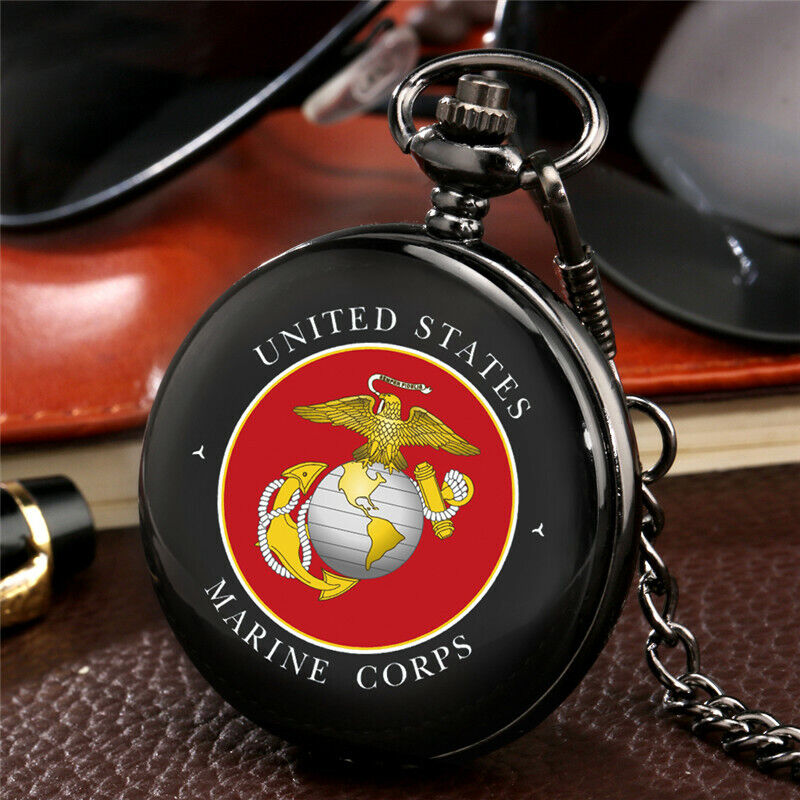 United States Army/Navy/Airforce/Marine Corps Retro Quartz Pocket Watches Gifts