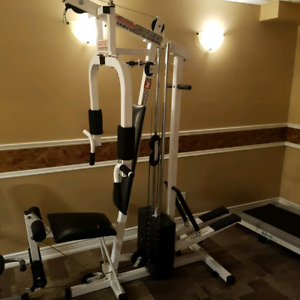 Weight stack home gym