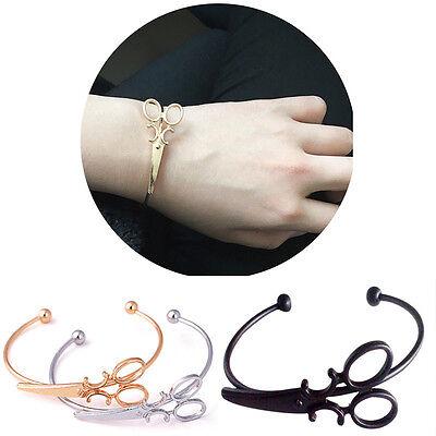 Männer Frauen Legierung Schere Armband einstellbar Armreif für Paar Schmuck K YR