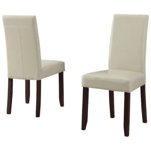 Acadian Contemporary Dining Chair - Set of 2 - Satin Cream New i