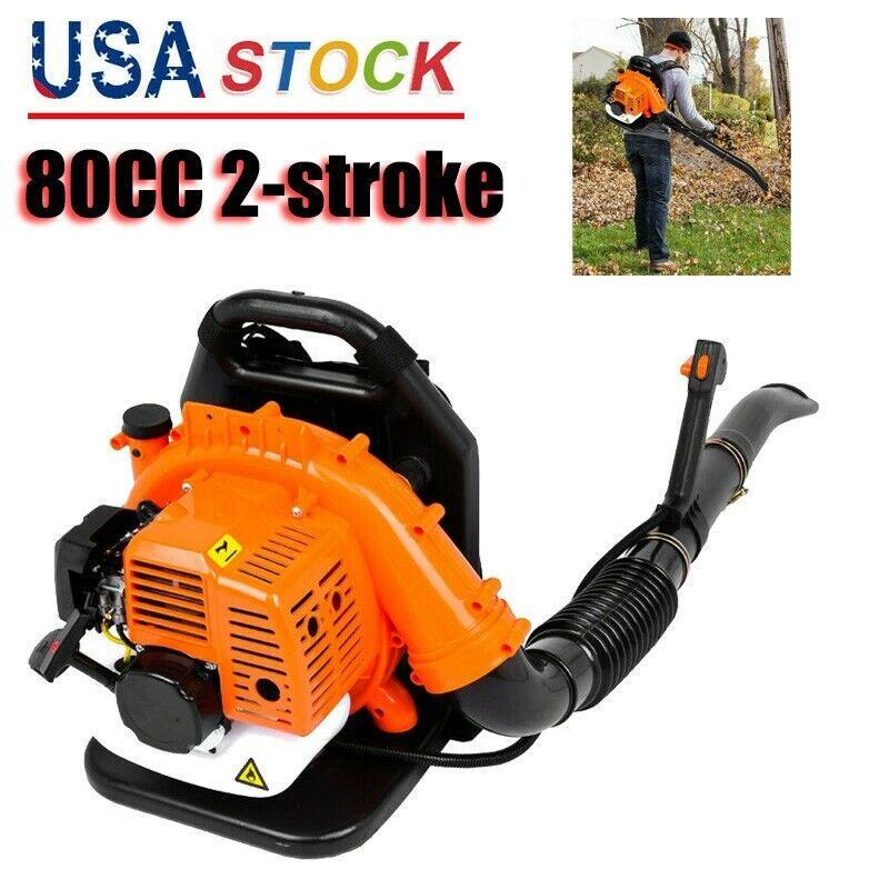850CFM Backpack Leaf Blower Gas Power 80CC 2-stroke Powerful