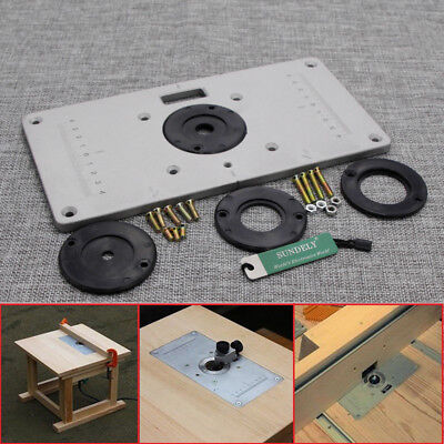 Router insert plate buyitmarketplace 235 x 120 x 8mm aluminum router table insert plate insert ring woodworking diy greentooth Images