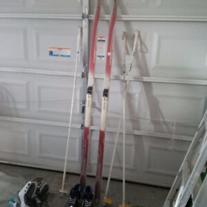 Skis and Poles for Sale - $30