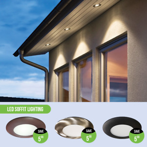 "4"" LED Soffit Pot lights 9W Black/Bronze/White Trims available!"
