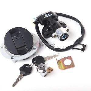 Ignition Switch Seat Lock Gas Cover Key Set Fr Suzuki GSXR600 GSXR750 2004-2005