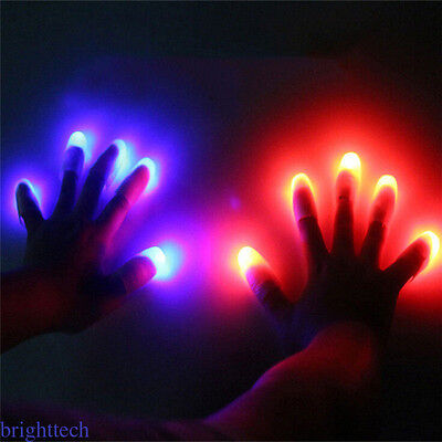 5pcs LED Finger Gloves Flashing Gloving Lights Party Night Games Disco MO1 - Gloving Lights