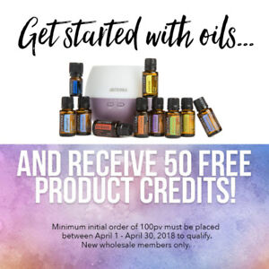 doTERRA Essential Oils - Free 50 Product Credits this month!