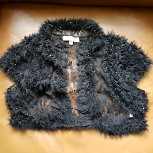 Black Lace short bolero over top for dress