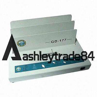 Electric Hot Melt Glue Binding Machine Book Binder Gd-177 For A4 Paper 220v
