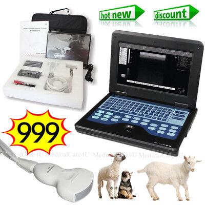 Vet Ultrasound Scanner Lcd Laptop Machine 3.5mhz Convex Probe For Animal Using