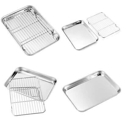 Baking Sheets And Rack Set, Zacfton Cookie Pan With Nonstick Cooling Rack and Co