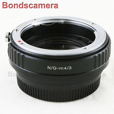 Focal Reducer Speed Booster Nikon F mount G Lens to Micro 4/3 Adapter M43