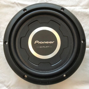 """2 x 10"""" Pioneer Shallow-mount subwoofers - both TS-SW2501S4"""