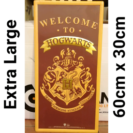 Harry Potter Metal Sign - Welcome To Hogwarts / 60cm x 30cm