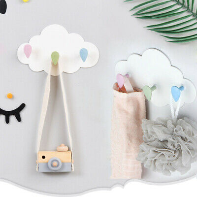 Clouds Wall Hook Key Holder Coat Hanger Storage Hanger Bathroom Rack Home De MC