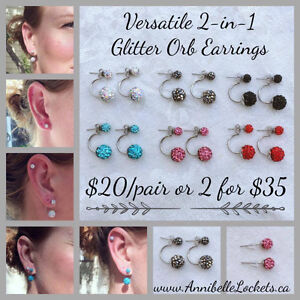 Annibelle Lockets - Glitter Orb Earrings